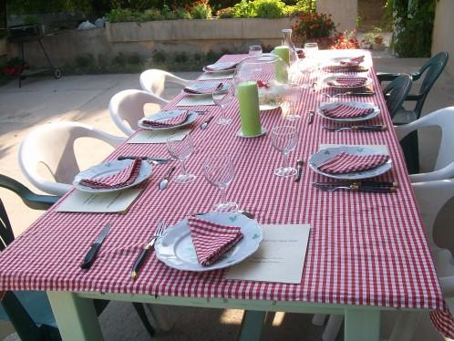 Deco table campagne chic