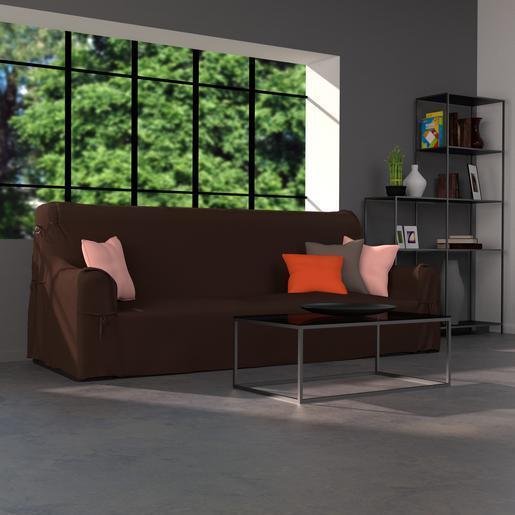 Housse de canapé marron