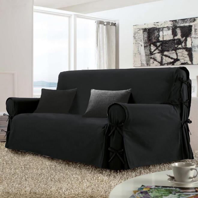 Housse de canape noir