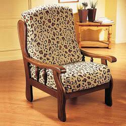 Housse fauteuil rustique bois