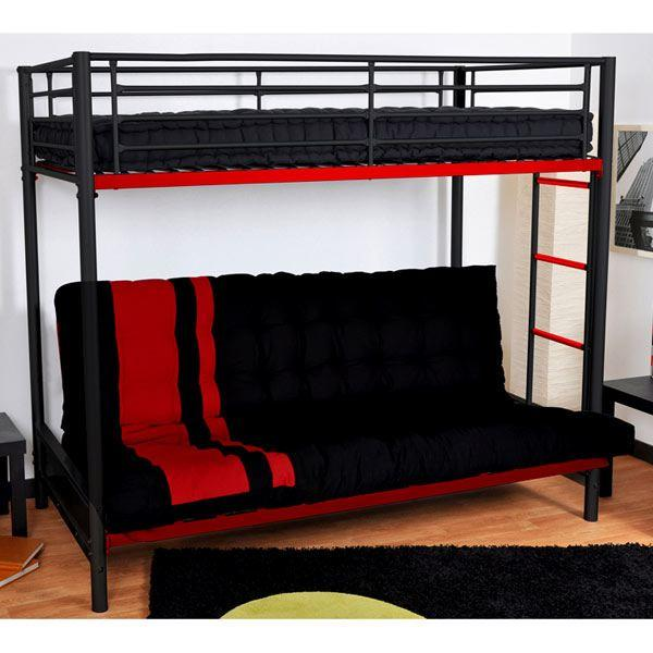 Lit mezzanine avec canapé intégré