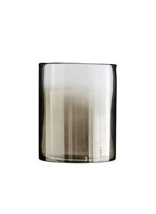 Vase verre fumé