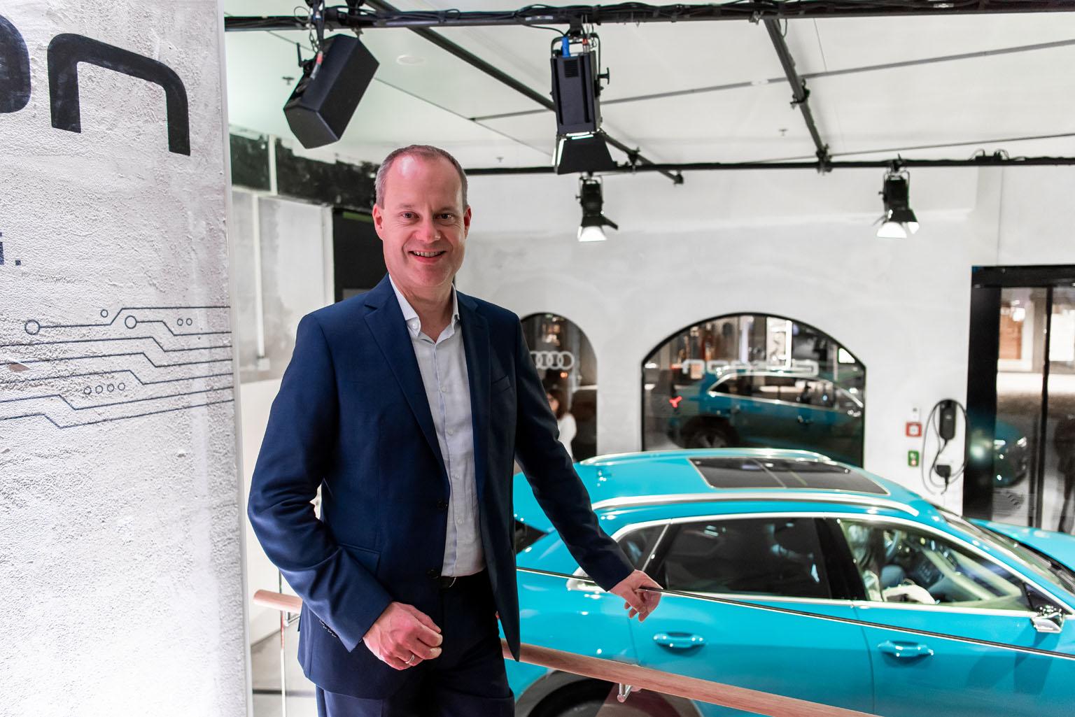 Jens van Eikels à l'Audi e-tron Pop-up Store de Zurich. (Tom Lüthi)