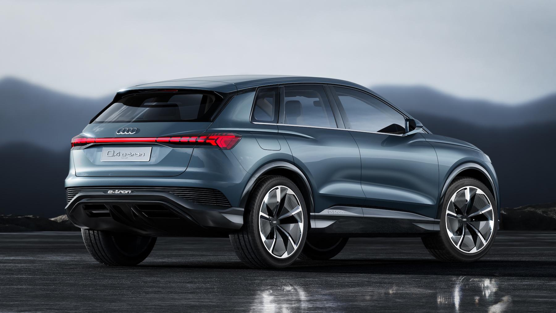 L'Audi Q4 e-tron concept è la quinta auto elettrica Audi che entro fine 2020 dovrà essere lanciata sul mercato. (AUDI)