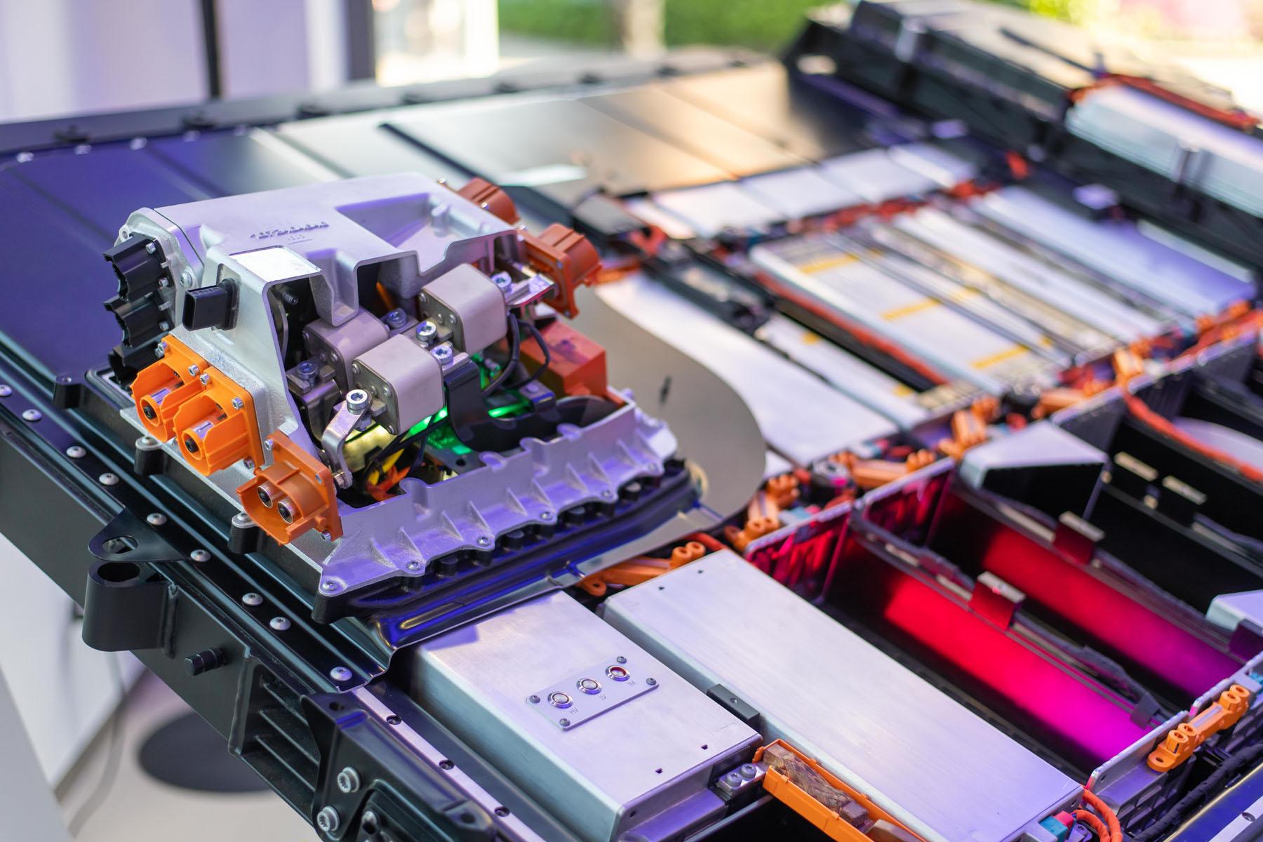 Un vrai concentré d'énergie: à l'Utoquai, une batterie d'Audi e-tron est aussi exposée. (Tom Lüthi)
