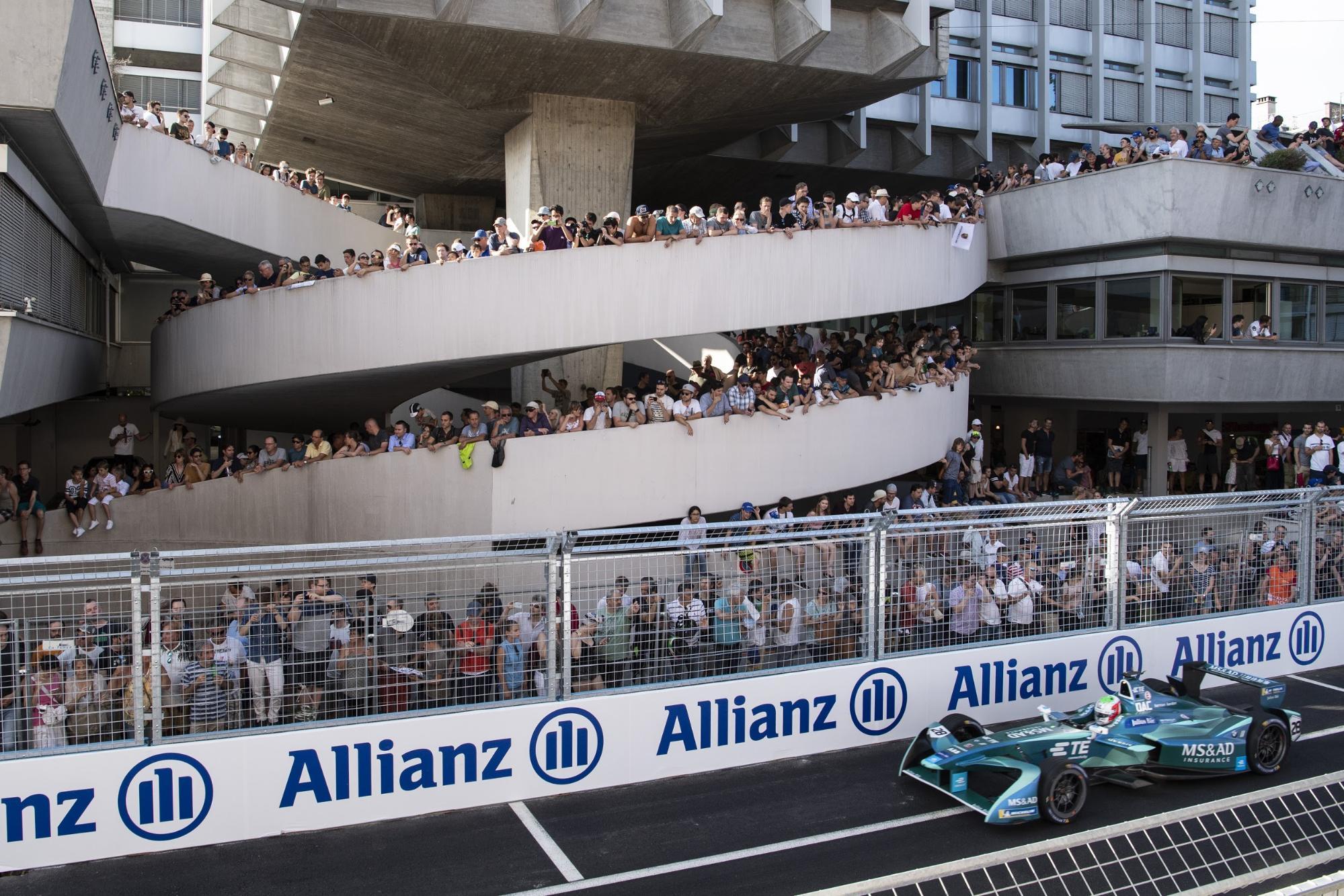 L'an dernier, l'E-Prix de Zurich avait suscité l'intérêt du public. (Keystone/Ennio Leanza)