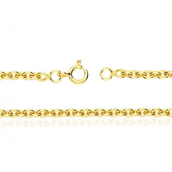 chaine or jaune 18 carats 40 cm largeurs de 1 4 a 3 mm