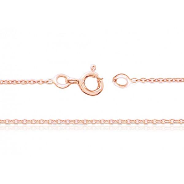 chaine or rose 18 carats 40 cm largeurs de 1 00 a 1 4 mm