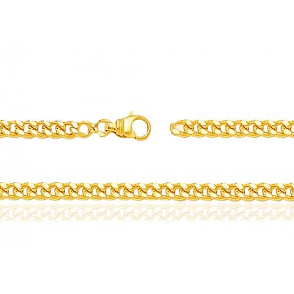 chaine or jaune 18 carats 60 cm largeurs de 0 75 a 3 2 mm