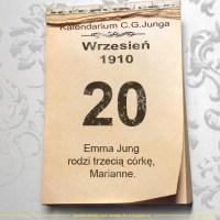 20 września 1910 - Kalendarz C. G. Junga