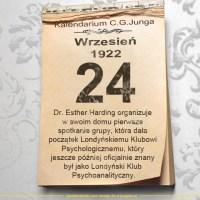 24 września 1922 - Kalendarz C. G. Junga