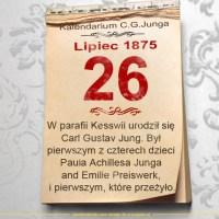 26 lipca 1875 - Kalendarz C. G. Junga