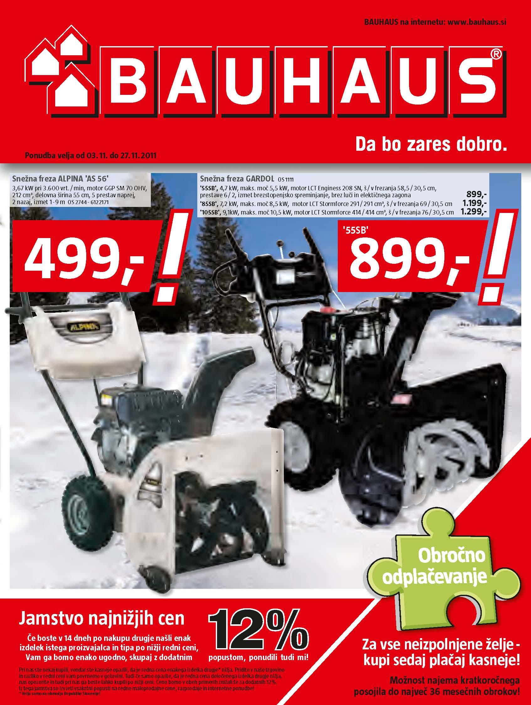 Bauhaus Katalog Akcijska Ponudba November