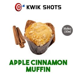 Kwik Shots - Apple Cinnamon Muffin- One shot Flavour Concentrates   South Africa