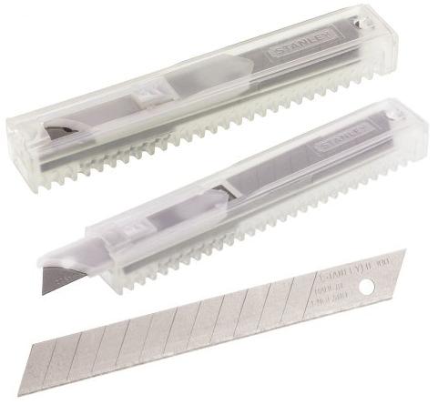Stanley 10 Ανταλλακτικές Σπαστές Λάμες Λεπίδες 10τεμ 0,43x9mm για Φαλτσέτα-Μουσαμοκόπτη