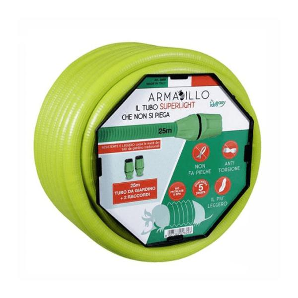 IdroEasy Armadillo Λάστιχο ποτίσματος ανθεκτικό 5/8″ 15m + 2 Ταχυσύδνεσμους