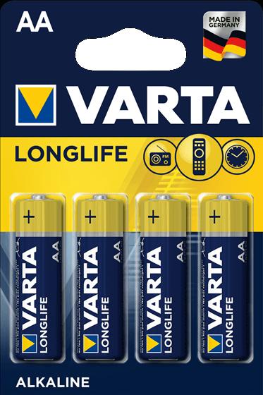 VARTA LONGLIFE Μπαταρία Αλκαλική ΑΑ 1,5V LR6 NM1500 4τμχ