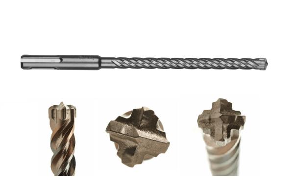 MILWAUKEE MX4 Τρυπάνι 4 Κοπών SDS-Plus Ø8mm x 165mm