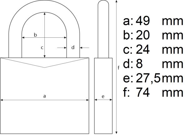 ABUS 70IB Λουκέτο Ανοξείδωτο Θαλάσσης 45mm Παντός Καιρού