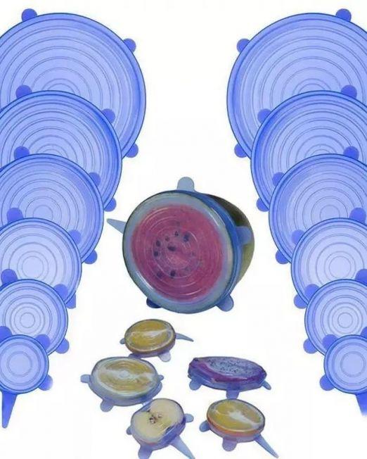 Ελαστικά Καλύμματα Καπάκια Σιλικόνης - Silicone Stretch Lids 1