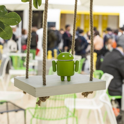Swinging around with @android in Barcelona at Mobile World Congress.
