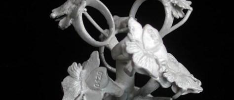 銀鋳造のツリー