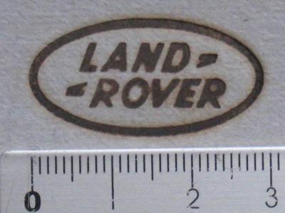 車焼印ランドローバー