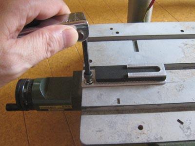 焼印用治具の取付