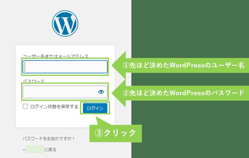 Wordpressログイン方法4