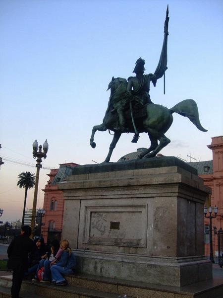Estatua Manuel Belgrano  Statue questre Manuel Belgrano  Buenos Aires