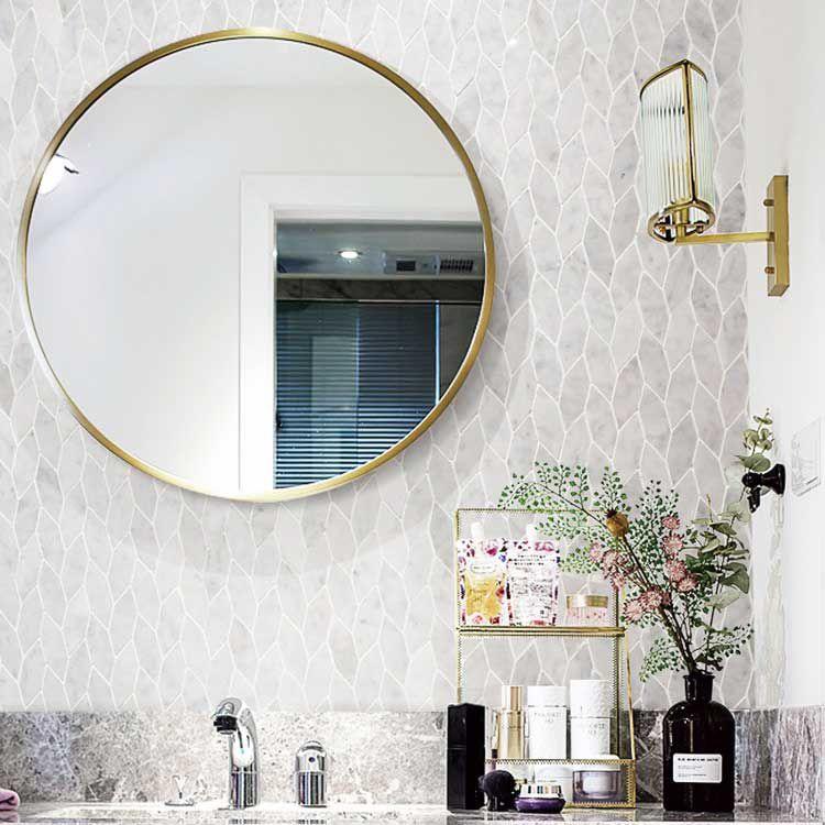 blattmuster carrara weiss wande und boden im bad marmor mosaik fliese fur kuchenruckwand