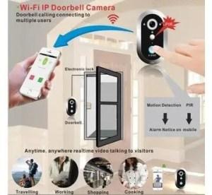720P Smart WiFi Doorbell Camera P2P Waterproof PIR Door Camera