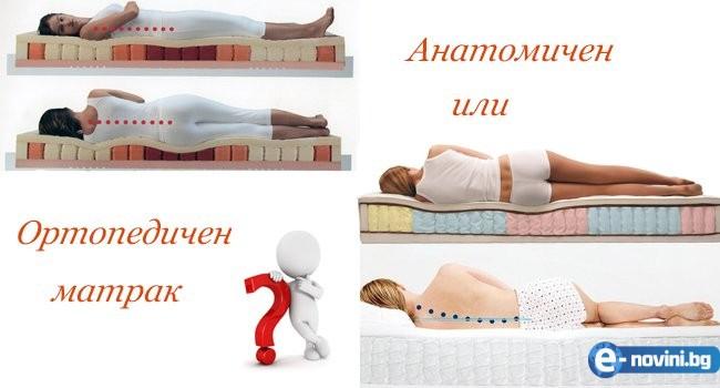 Ортопедичен или анатомичен матрак