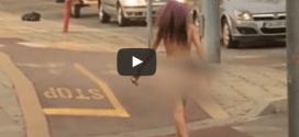 Млада пловдивчанка взриви Пловдив и нета! Тича гола по улиците! (ВИДЕО)