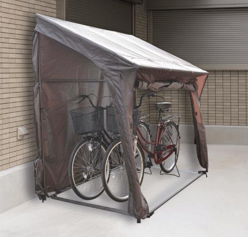 山善 ガーデンマスター 片屋根式サイクルガレージ
