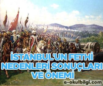 İstanbul'un fethinin nedenleri sonuçları ve önemi