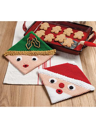 kitchen hot pads free standing sink unit crochet quick easy patterns home santa elf pattern