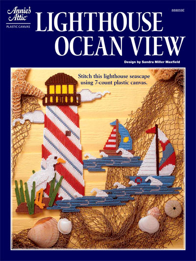 Plastic Canvas  Wall  Door Hanging Patterns  Other Patterns  Lighthouse Ocean View