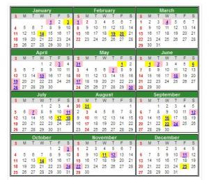 kalendar 2019 - e-Perkhidmatan