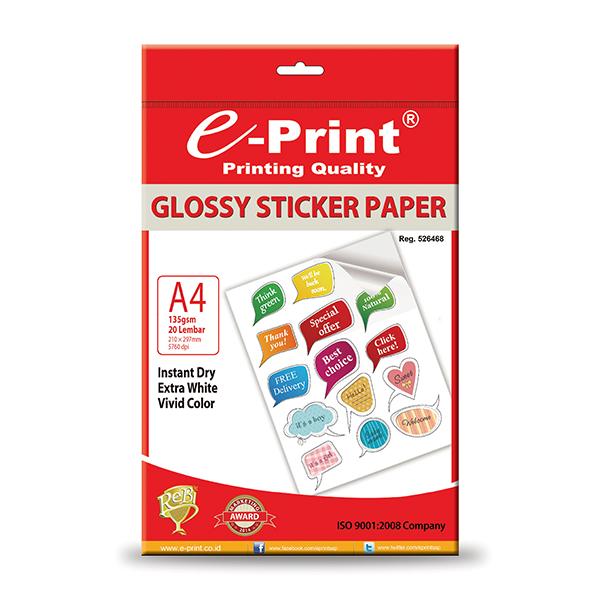 Sticker Glossy Foto Paper