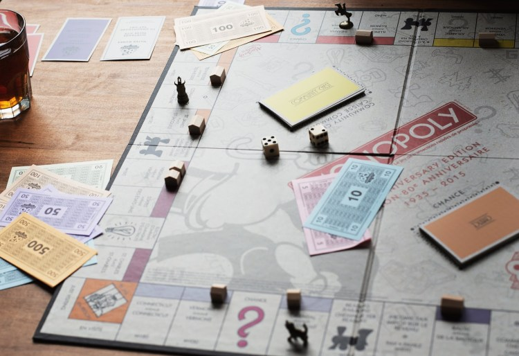 a game on monopoly being played