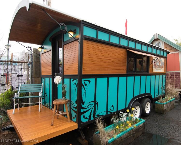 a tiny caravan home