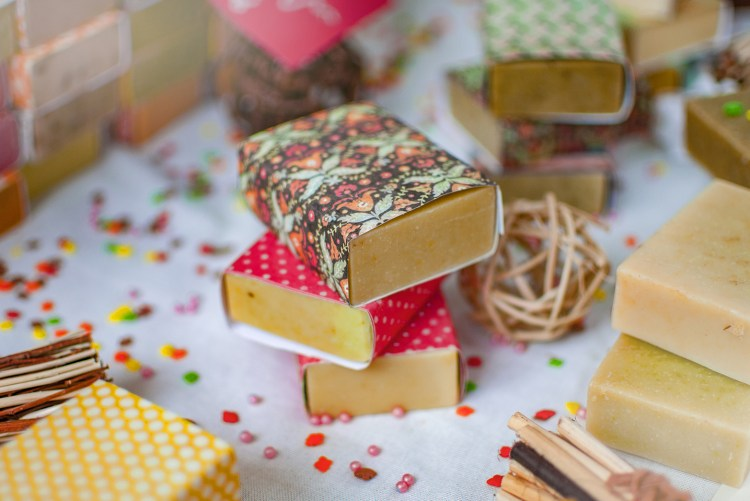 fudge wrapped in colourful paper