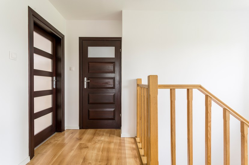 wooden doors to upstairs bedrooms