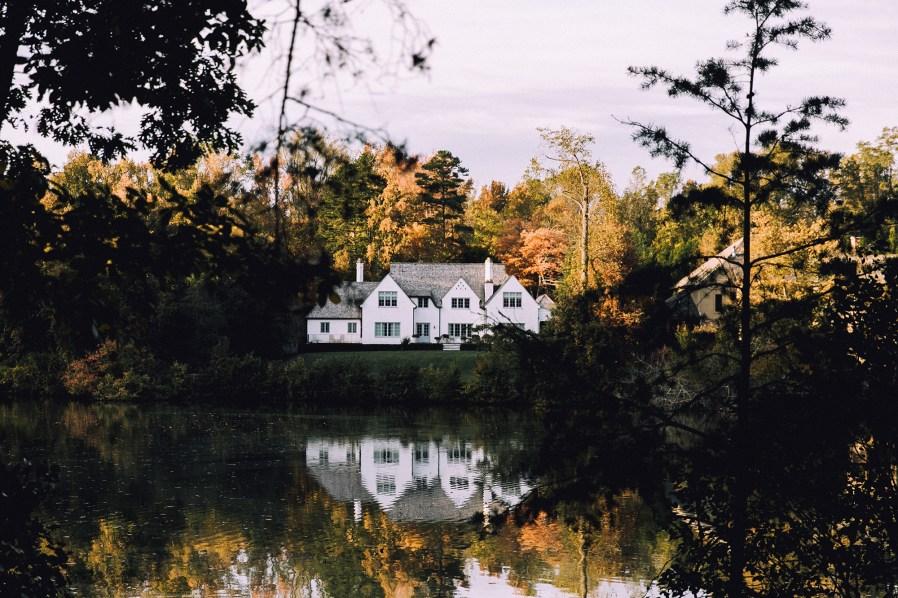 a home near a lake