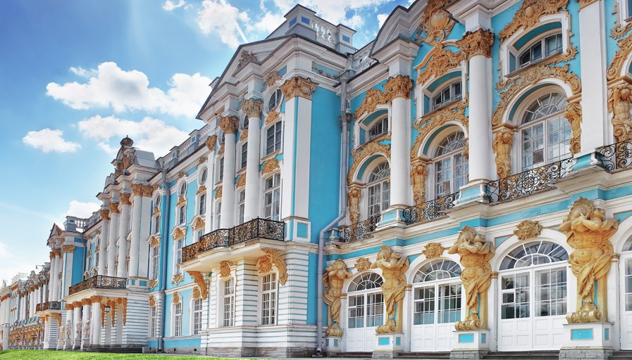 Blue and gold palace