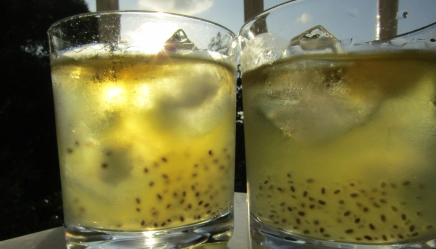 two basil bee sting cocktails