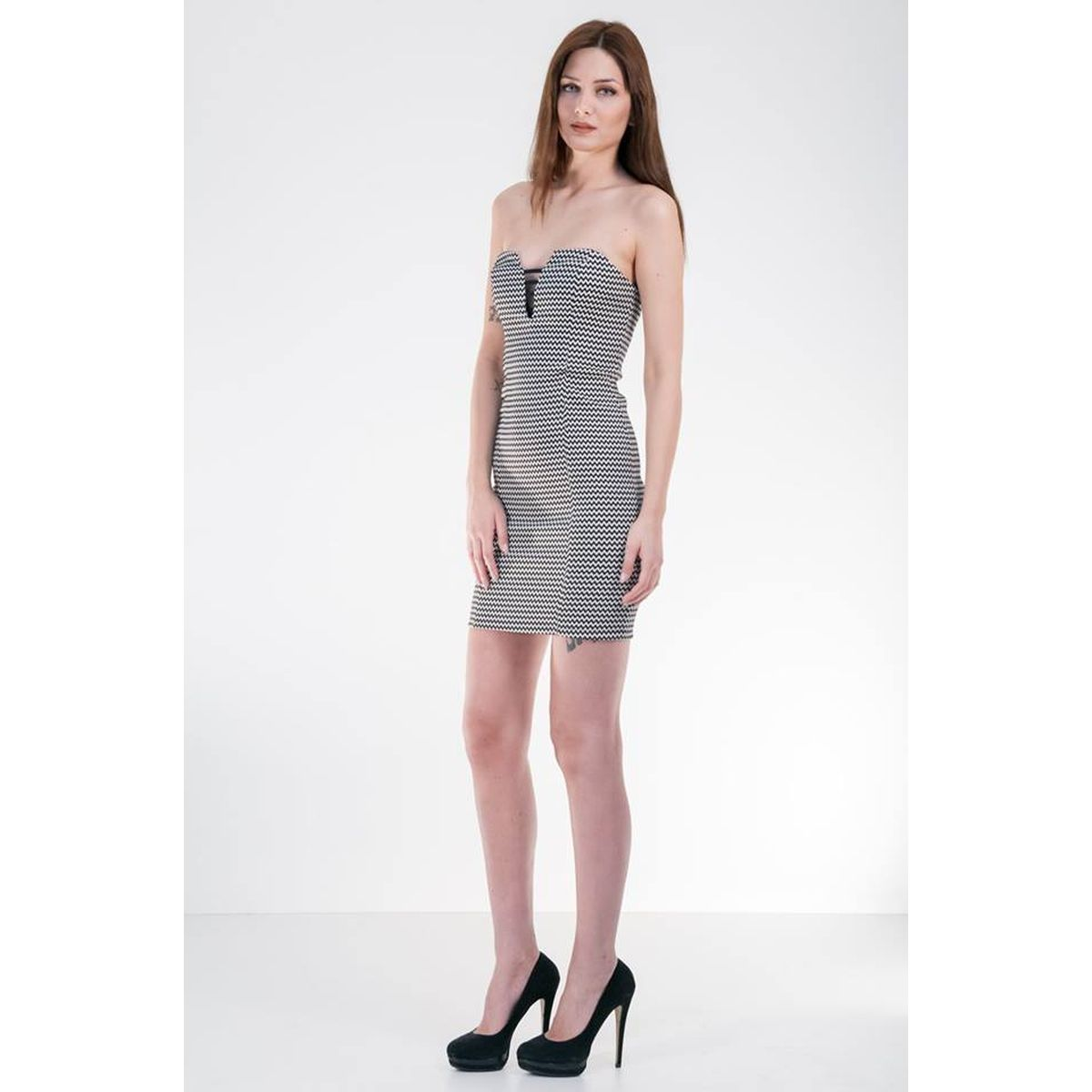 4037bbeb444f Φόρεμα στράπλες κοντό καλοκαιρινό - e-royxa.gr