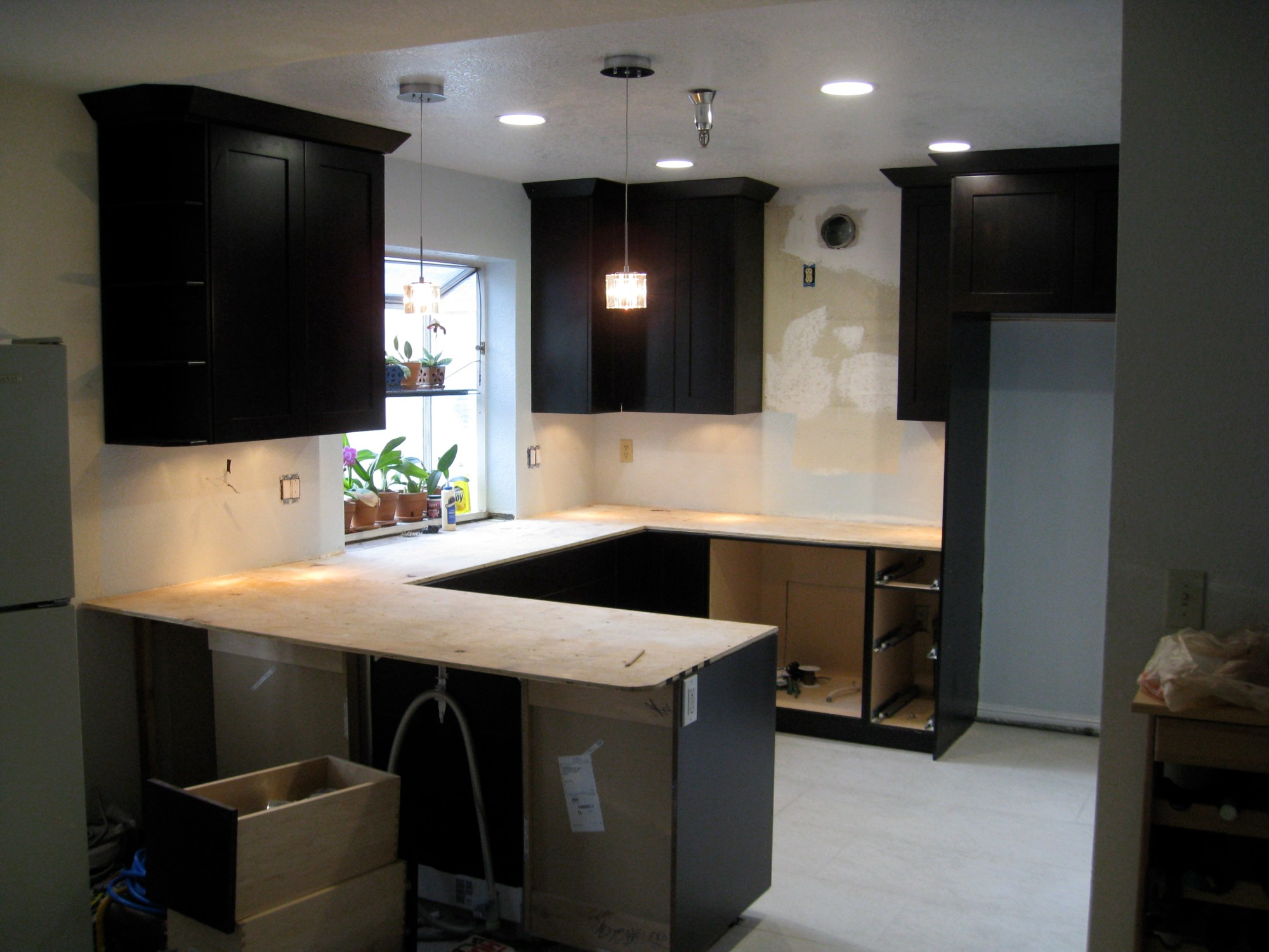 hight resolution of kitchen electrical work complete