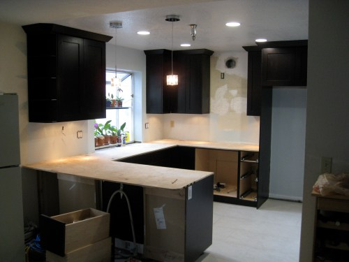 small resolution of kitchen electrical work complete
